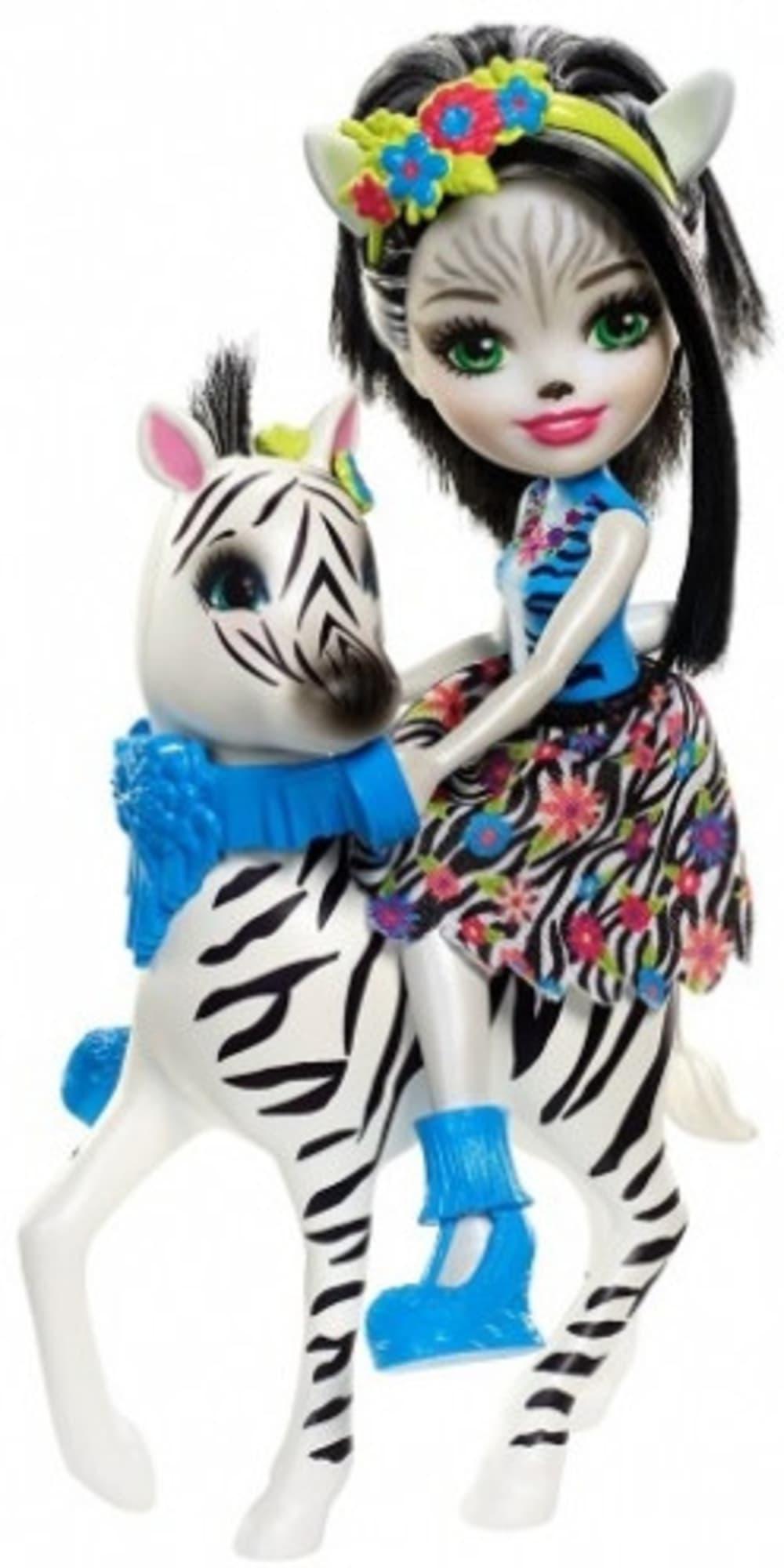 Lalka + Duże zwierze Zebra Enchantimals