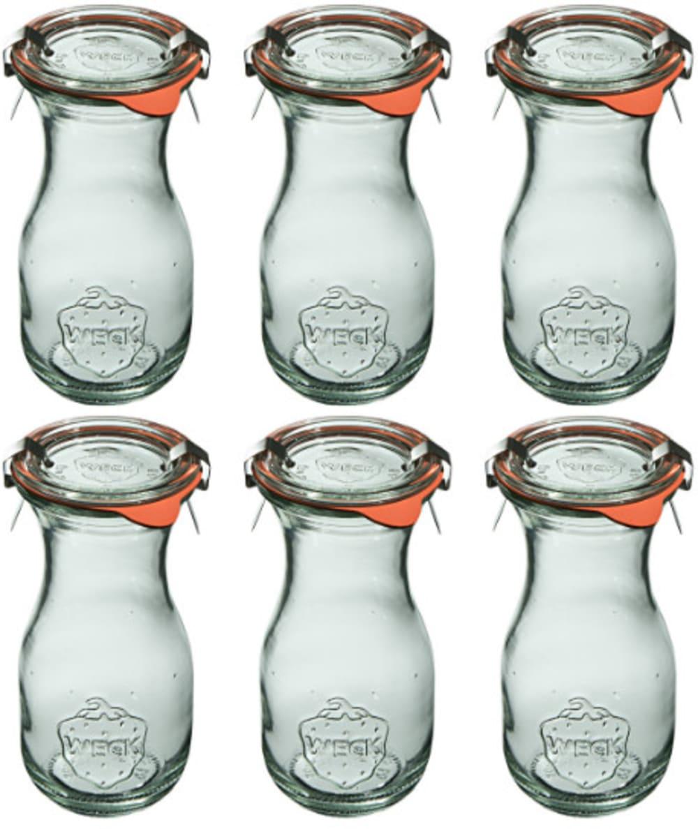 Butelka z pokrywką, uszczelką i 2 zapinkami 290 ml WECK op. 6 szt.