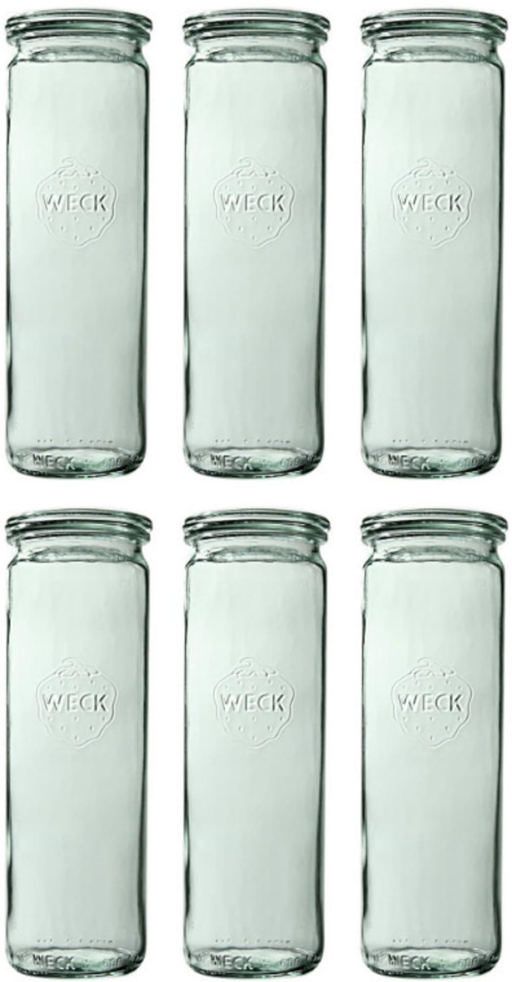 Słoik cylindryczny bez pokrywki 600 ml WECK op. 6 szt.