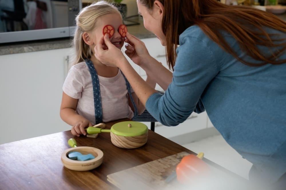 Drewniany zestaw akcesoria do gotowania dla dziecka