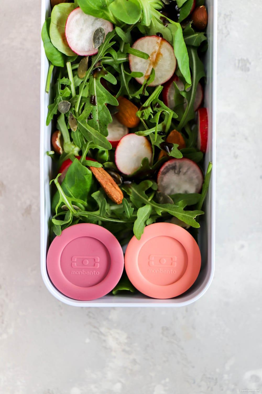 Pojemniki na sos MonBento TEMPLE S Pink Flamingo + Pink Blush 20ml