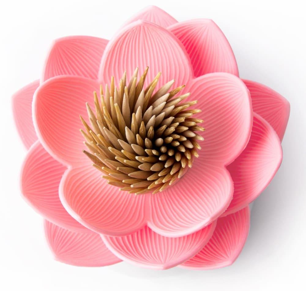 Pojemnik na wykałaczki Lotus Różowy