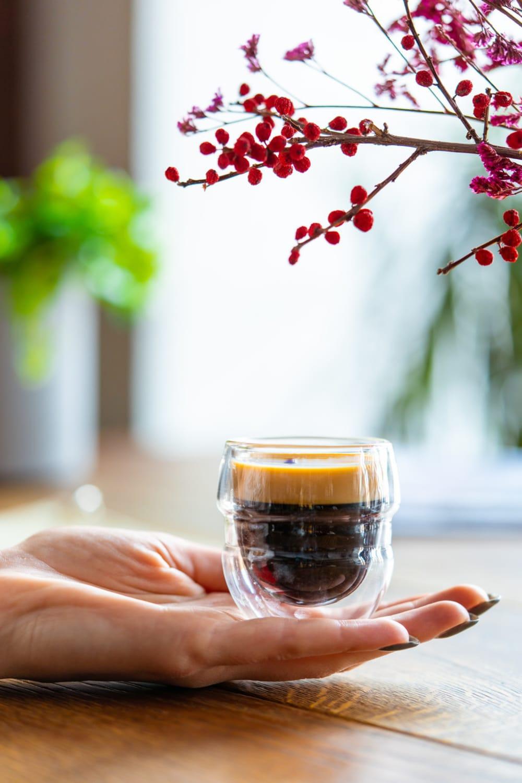 2 szklanki do espresso z podwójną ścianką 70ml Sferico Vialli Design