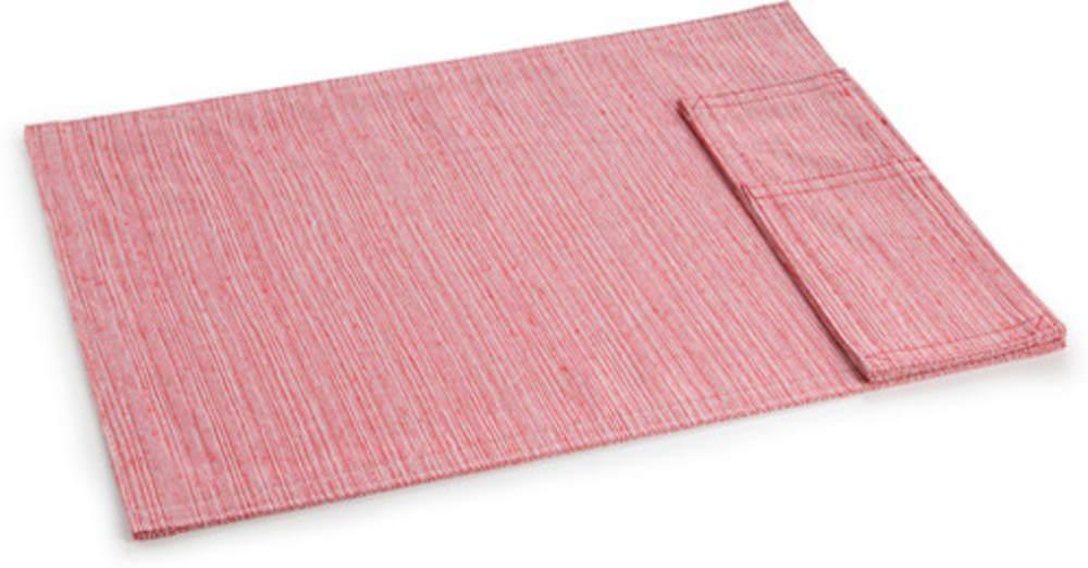 Tekstylna podkładka z kieszonką na sztućce FLAIR Lounge, 45 x 32 cm, niebieska