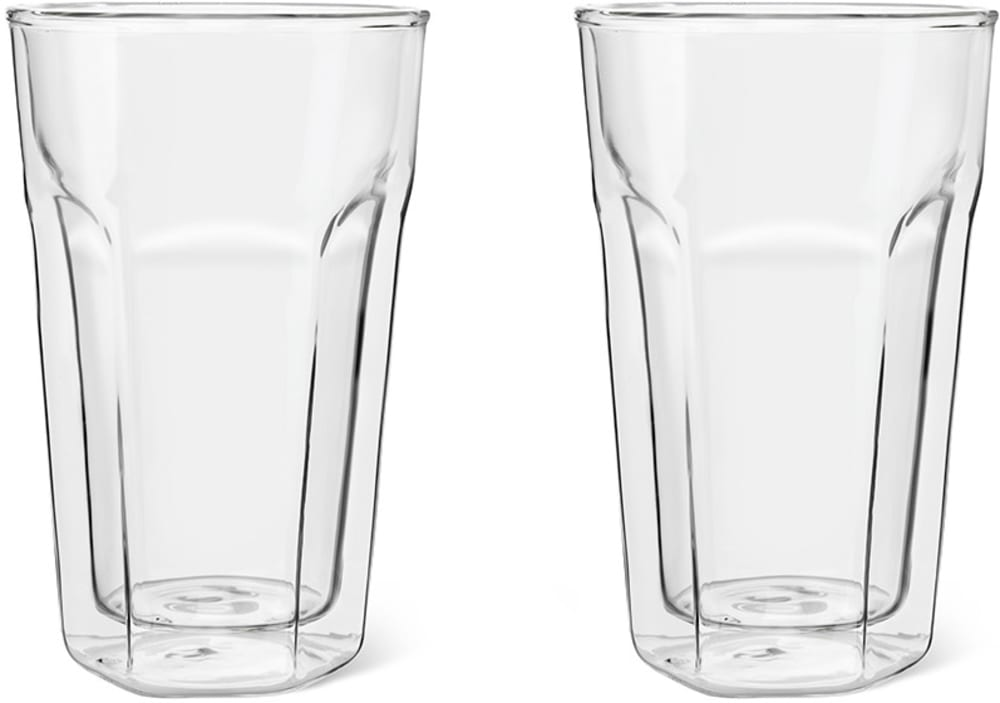 Zestaw dwóch szklanek termicznych do latte z podwójną ścianką 280ml Leopold Vienna