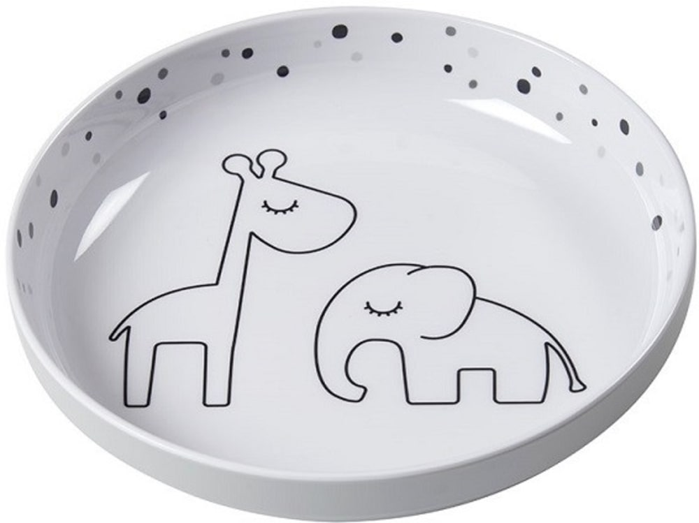 Zestaw Obiadowy Komplet Naczyń Dla Niemowlaka Grey Dreamy Done by Deer
