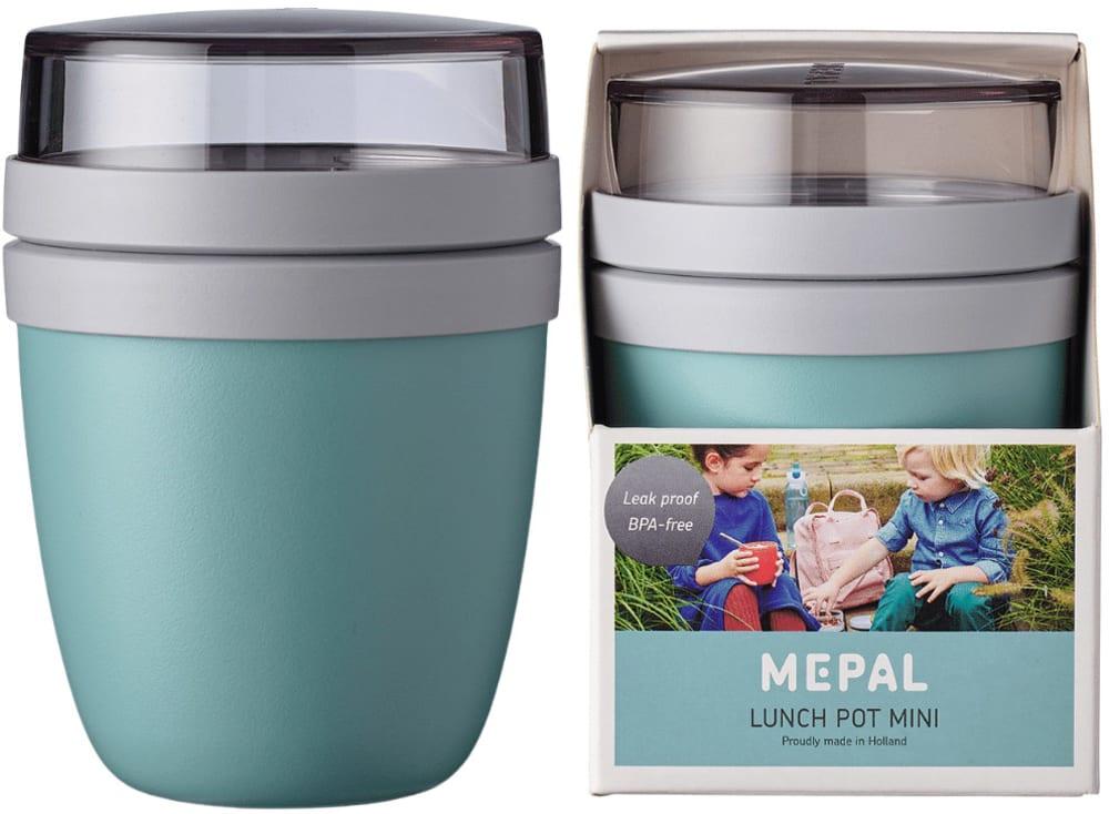 Szczelny lunchpot lunchbox na drugie śniadanie Nordic Green Ellipse Mini Mepal