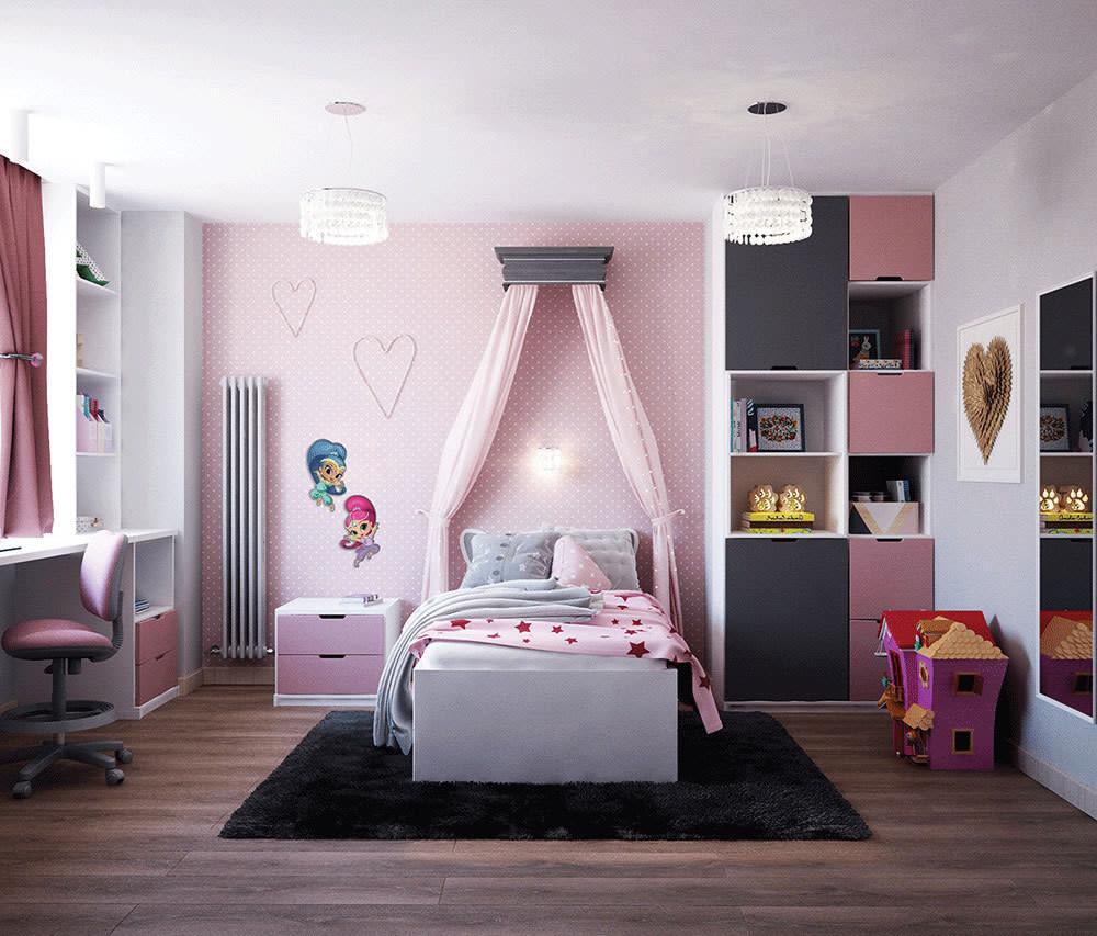 Dekoracja ścienna do pokoju dziecięcego, dziecka Shimmer&Shine - Shimmer z bezpiecznej, nietoksycznej pianki Nickelodeon