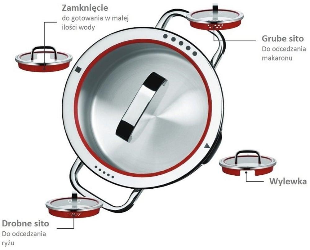 WMF - Zestaw garnków 4 części z rondlem, Function 4