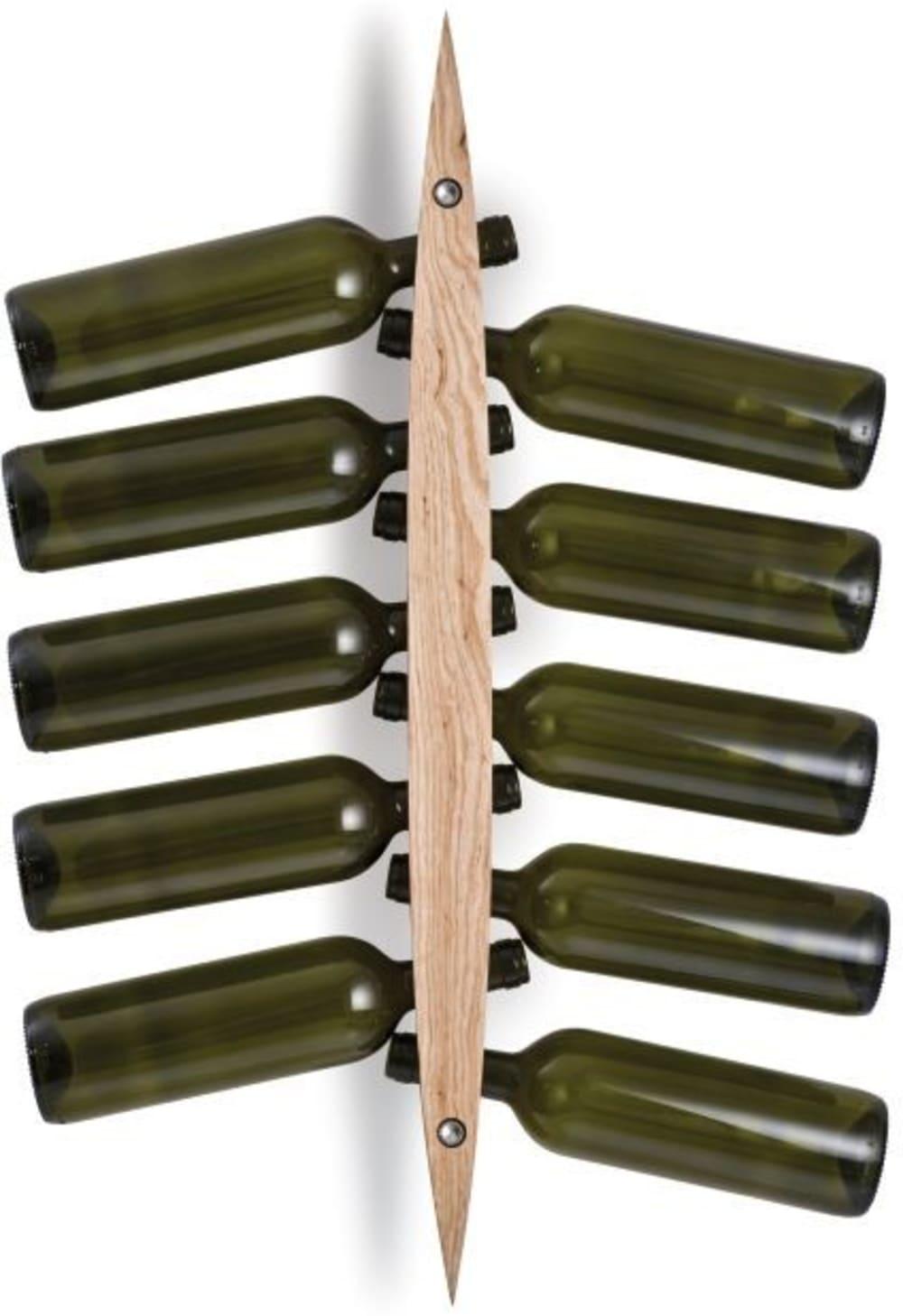LEGNO - Enoteca - Wieszak na wino jesionowy natur.
