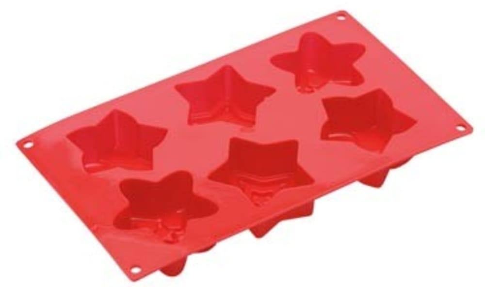 Forma silikonowa na babeczki gwiazdki x6 PAVONI