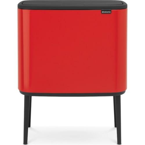 BRABANTIA Kosz na śmieci Bo Touch Bin 3 x 11L Czerwony