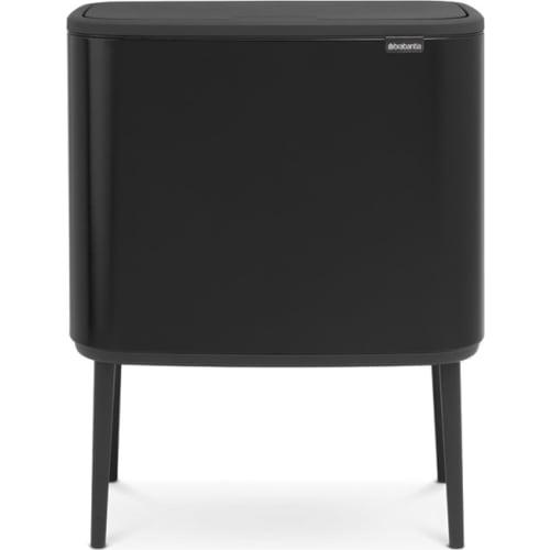 BRABANTIA Kosz na śmieci Bo Touch Bin 3 x 11L Czarny matowy