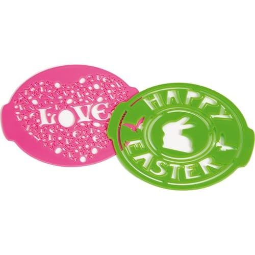 PAVONIDEA Szablony do dekoracji ciast LOVE & EASTER
