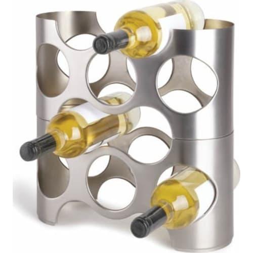 UMBRA - stojak na wino, srebrny, NAPA
