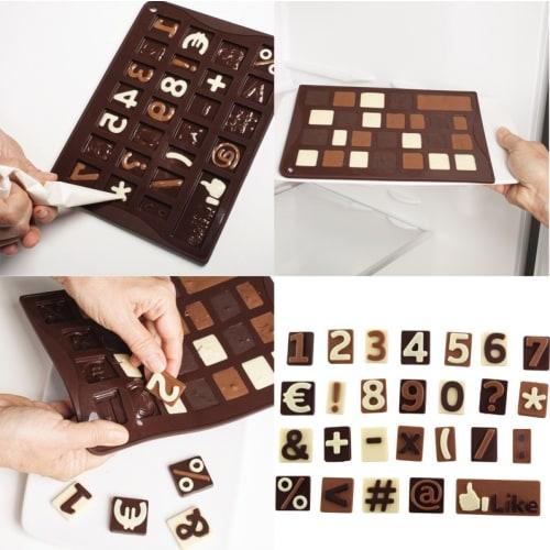 Forma na czekoladowe pralinki CYFERKI123 x26