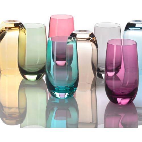 LO - Szklanka 390 ml, rubinowa, COLORI