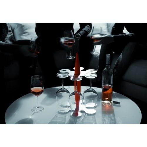 FELIX stojak + 6 kieliszków do wina,biały, bez op.