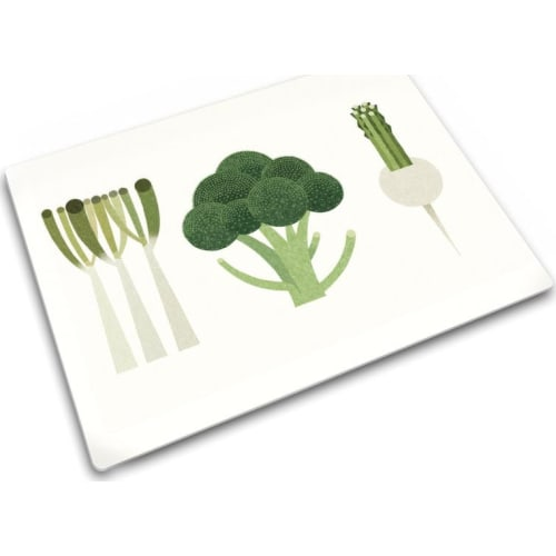 Podkładka szklana 30x40 Warzywa zielone JOSEPH JOSEPH