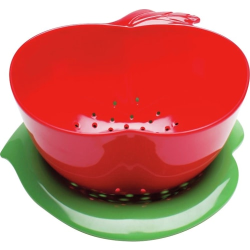 Zak! - Durszlak jabłko z podst., czerwono-zielony