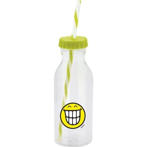 Butelka z kapslem ze słomką SMILE 550ml