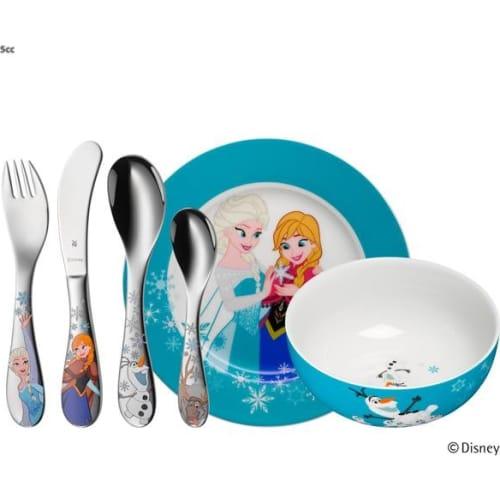 Zestaw naczyń i sztućców dla dzieci 6 elementów Frozen WMF