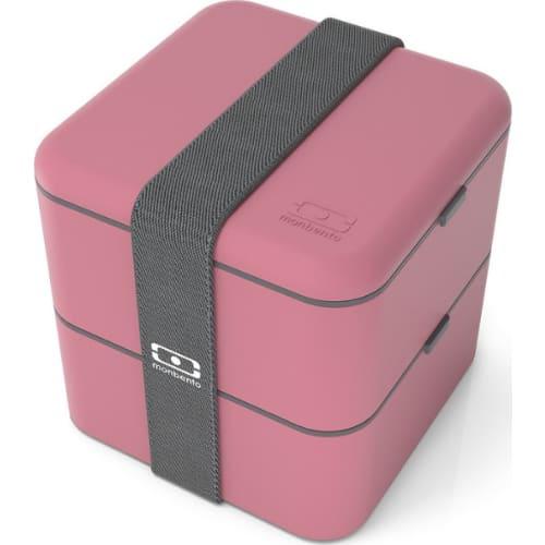 MonBento Square Bento Box kwadratowy 2w1 Blush