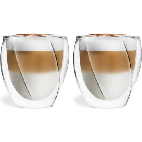 VIALLI DESIGN Zestaw 2 szklanki termiczne z podwójną ścianką Cristallo 250ml