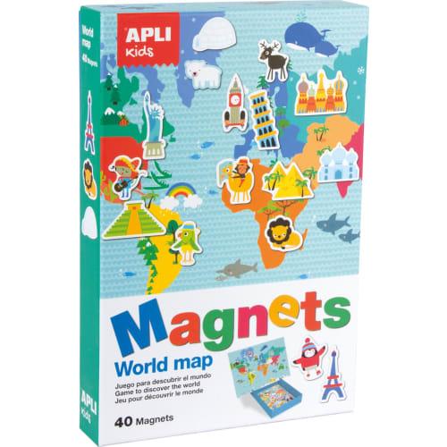 Magnetyczna układanka Apli Kids - Mapa świata