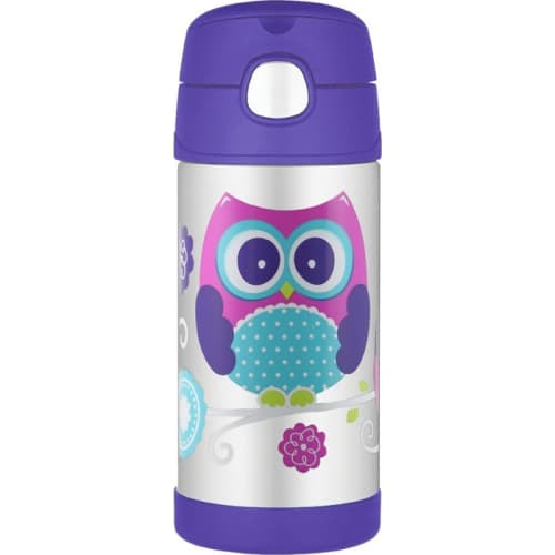 Thermos Funtainer Termos ze słomką Owl