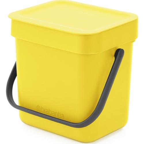 Kosz na odpadki Sort & Go żółty 3l