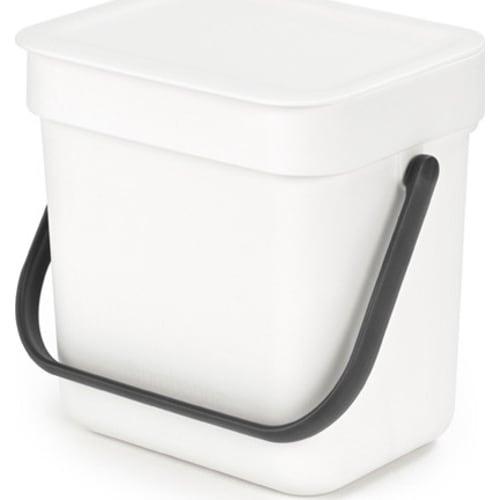 Kosz na odpadki Sort & Go biały 3l