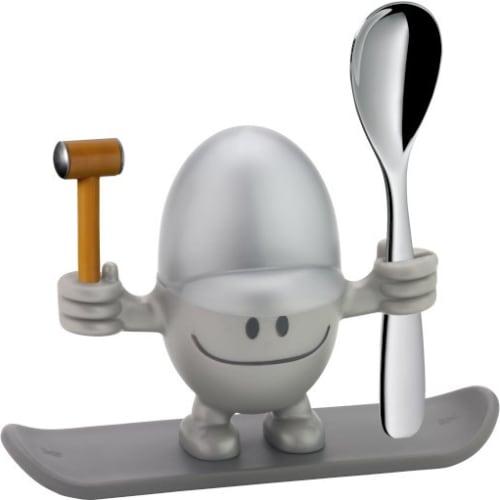 Kieliszek na jajko z łyżeczką  WMF McEgg, srebrny