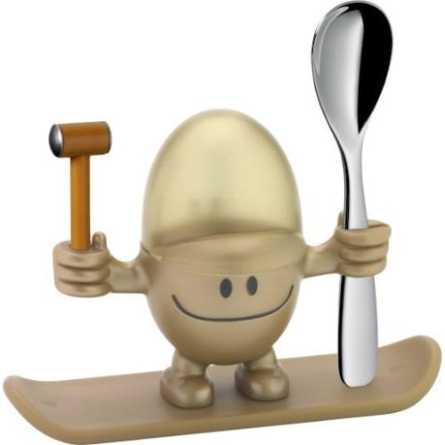 Kieliszek na jajko z łyżeczką  WMF McEgg, złoty