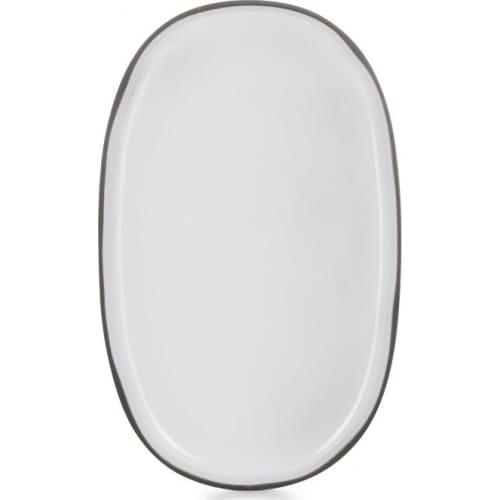 CARACTERE Półmisek 35 x 21 cm Biała Chmura