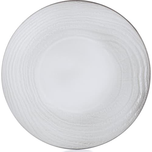 SWELL Talerz płaski 28,3 cm biały piasek