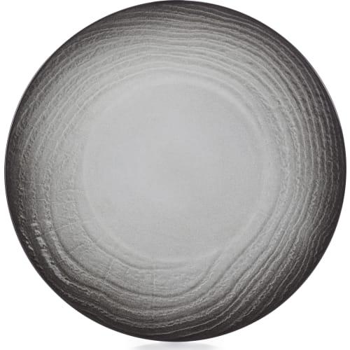 SWELL Talerz płaski 31 cm czarny piasek