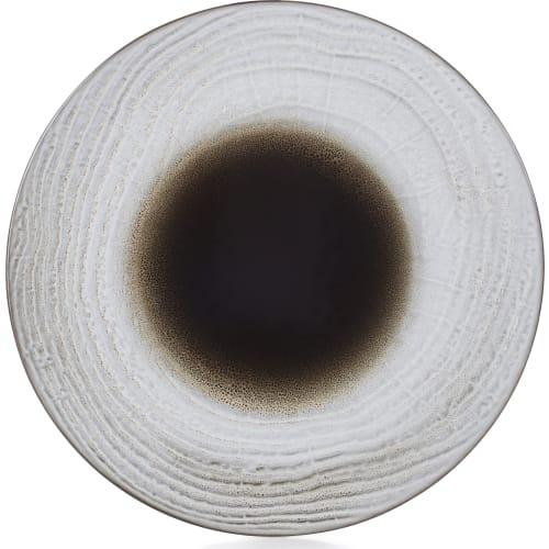 SWELL Talerz płaski 31 cm brązowy piasek