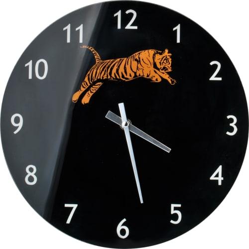 Zegar szklany Tygrys 30x4 cm