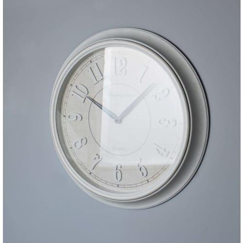 Zegar okrągły biały nakrapiany 55,8x55,8x5,4 cm