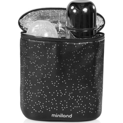 Termoopakowanie na termosy/butelki - czarne/srebrne