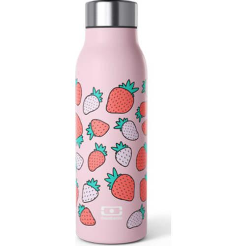 Butelka Monbento Genius the smart insulated graphic Strawberry 0.5 l