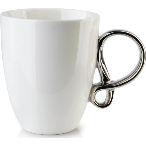 Kubek Infinity silver white 370 ml