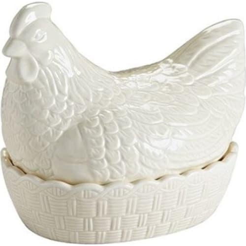 Pojemnik Kura ceramiczna do przechowywania jaj