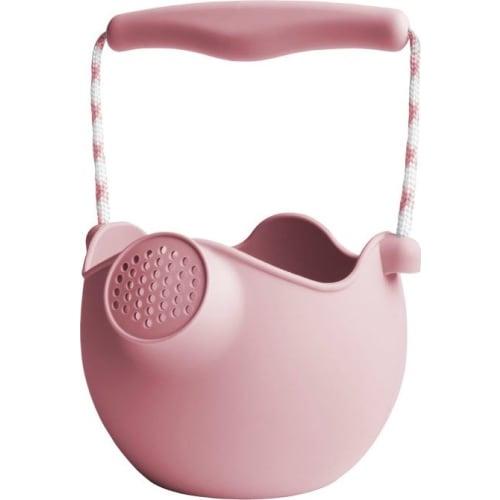 Silikonowe wiaderko konewka do zabawy w wodzie i piasku dla dzieci pudrowy róż Scrunch