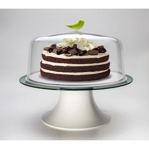 Patera na ciasto Sparrow biało-zielona