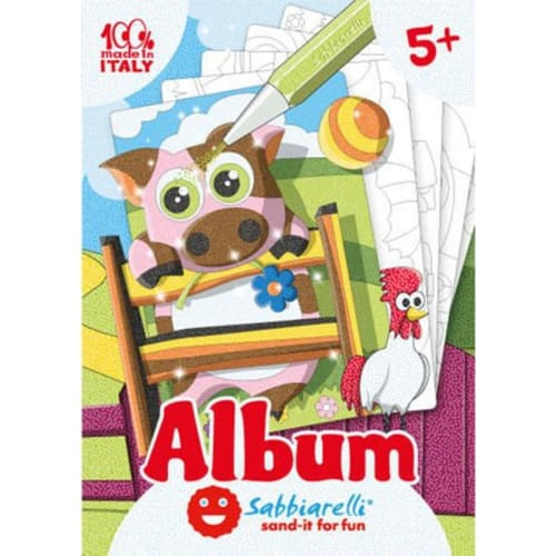 Album do kolorowania Magicznym Piaskiem, Zwierzęta gospodarcze 5l+
