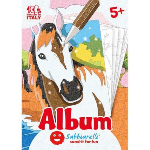 Album do kolorowania Magicznym Piaskiem, Konie, 5l+