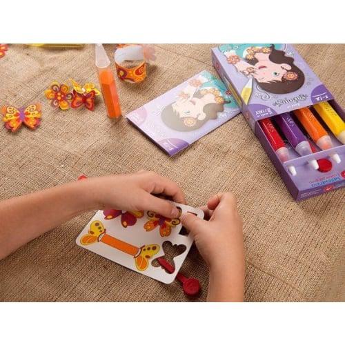 Magiczny piasek do kolorowania, Pocket Kit, Bijoux, 5l+