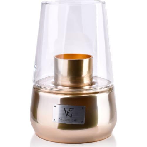 Świeca z Kloszem Lampion Złoty 25x18cm CRISTIE